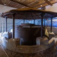 Výdech topeniště jižního (staršího) hvozdu - technologie stará téměř 140 let.