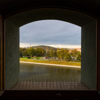 Výhled na Otavu a Pietní hřbitov.