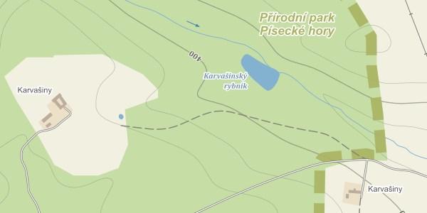 Turistická mapa Karvašiny (mapy.cz)