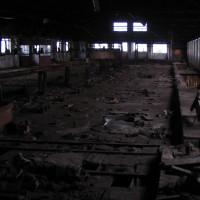 Hlavní hala s pecí, která byla tou dobou těsně před demolicí.